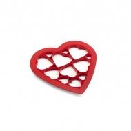 Forma do wykrawania ciastek Puzzle Hearts Lekue czerwona
