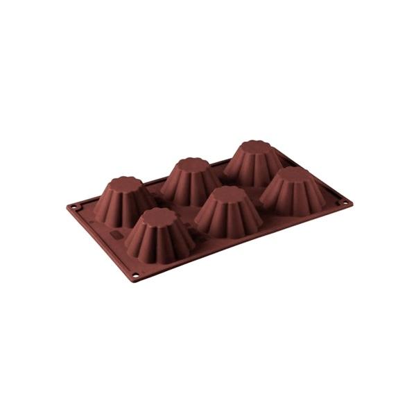 Forma na babeczki BRIOCHETTE Pavoni brązowa FR012MRAS.2