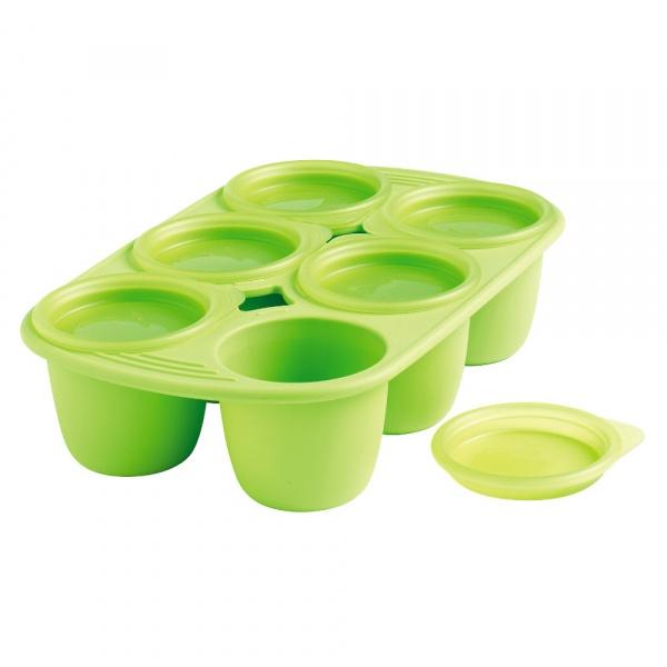 Forma z 6 wgłębieniami na posiłki dla dziecka 150 ML Mastrad zielona MA-F52108