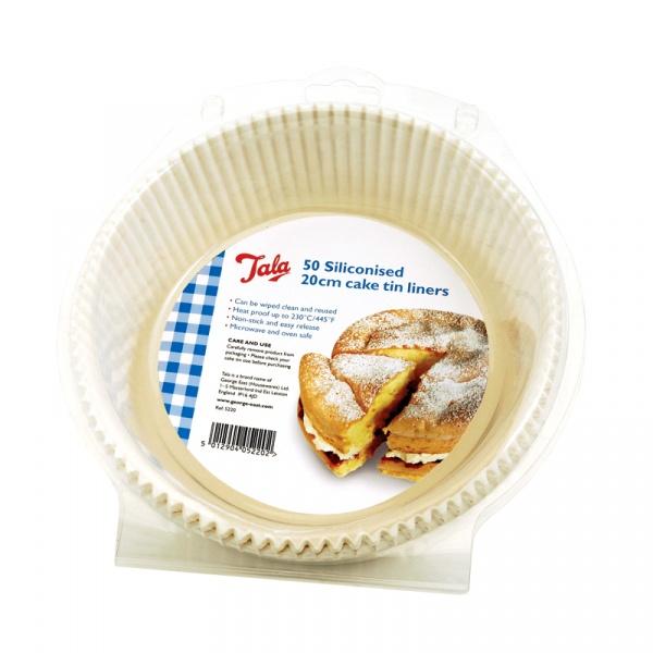 Formy papierowe do pieczenia silikonowane 50 szt. Tala 10A05220