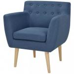 Fotel 67x59x77 cm, niebieski materiał