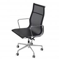 Fotel biurowy 109x58x60 cm D2.Design czarno-srebrny
