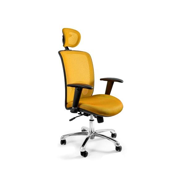 Fotel biurowy UNIQUE Expander żółty W-94-10