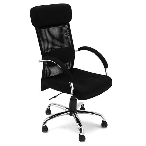 Fotel biurowy UNIQUE Overcross czarny W-62-4