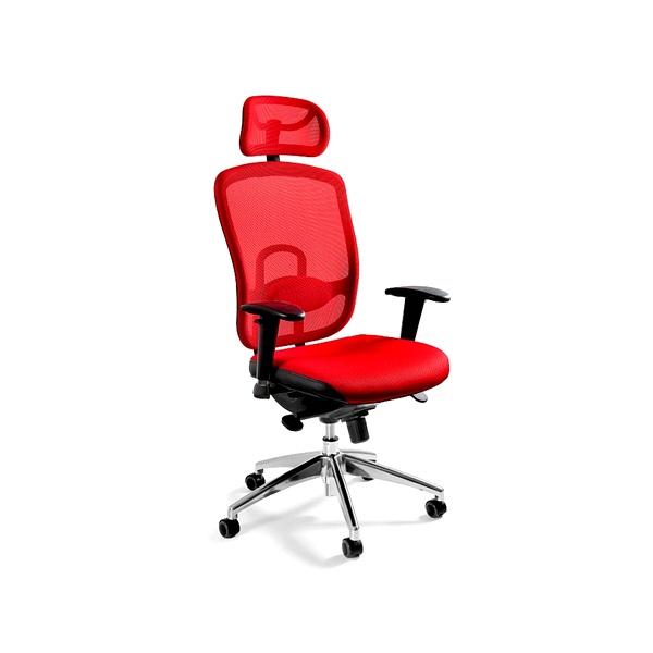 Fotel biurowy UNIQUE Vip czerwony W-80-2