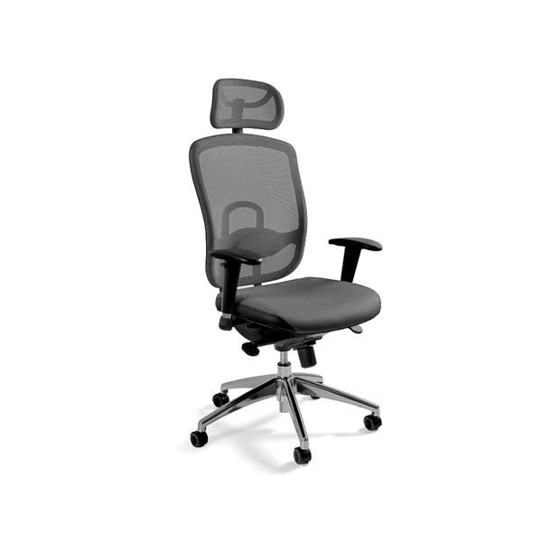Fotel biurowy UNIQUE Vip szary W-80-8