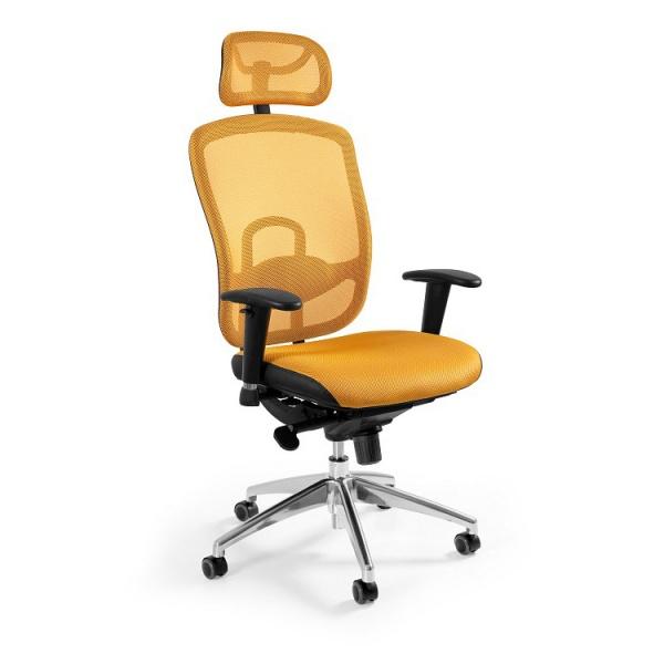 Fotel biurowy UNIQUE Vip żółty W-80-10