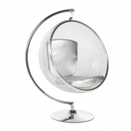 Fotel Bubble Stand King Home srebrny