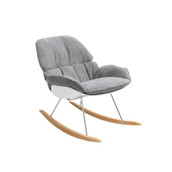 Fotel bujany na płozach Nino King Home jasny szary SI-F-BAY-Y-492-9