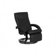 Fotel czarny skóra ekologiczna MIGHT