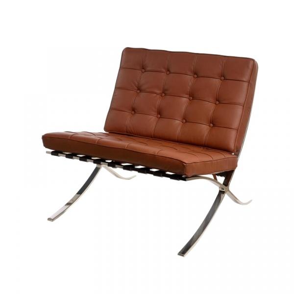 Fotel D2 BA1 skóra jasno brązowaTP DK-41497