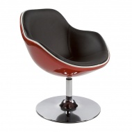 Fotel Daytona Kokoon Design pomarańczowo-czarny