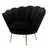 Fotel Diva 93x80cm Miloo Home Monogram czarny