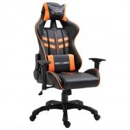 Fotel dla gracza, pomarańczowy, PU
