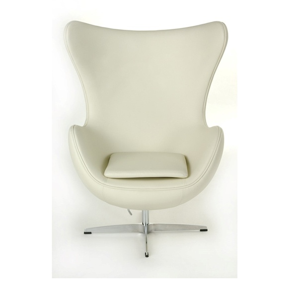 Fotel Jajo D2 skóra biała DK-18096