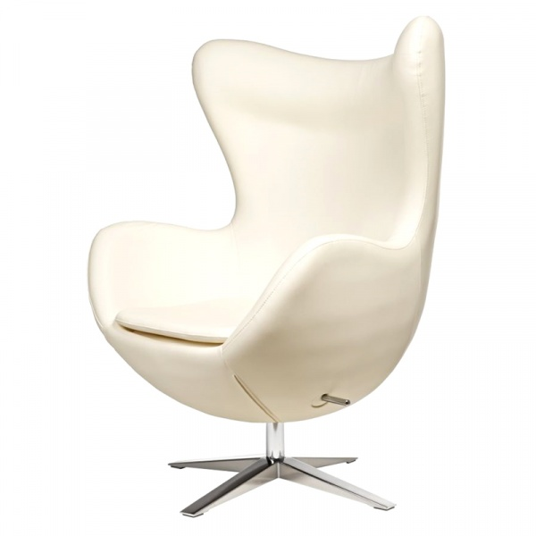 Fotel Jajo D2 szeroki skóra ekologiczna biała DK-42134