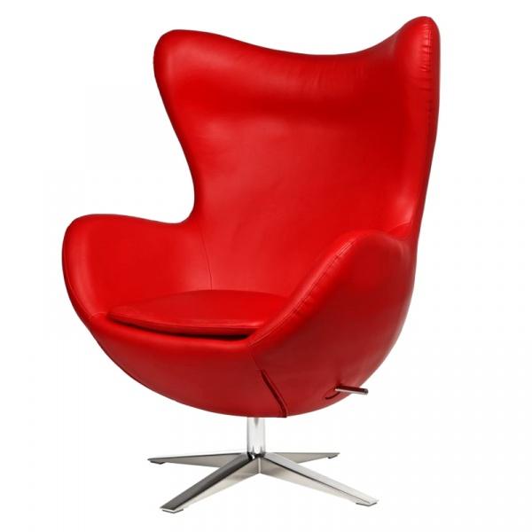 Fotel Jajo D2 szeroki skóra ekologiczna czerwona DK-42142
