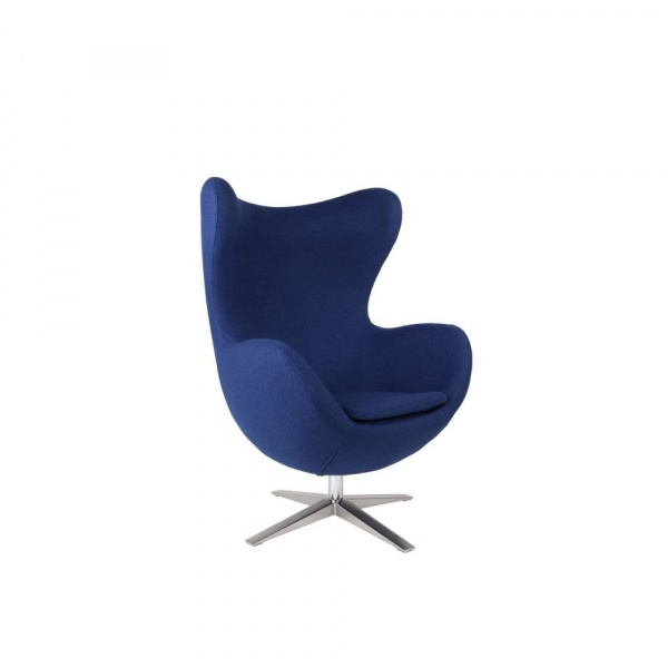 Fotel Jajo D2 szeroki tkanina niebieska DK-27636