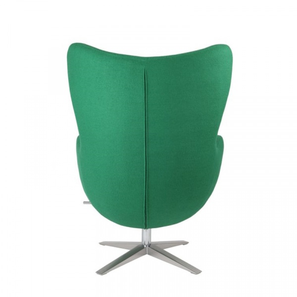 Fotel Jajo D2 szeroki tkanina zielona DK-40994