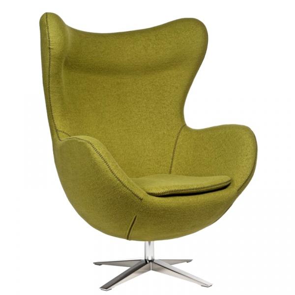 Fotel Jajo D2 z przeszyciem szeroki tkanina oliwkowa DK-42159