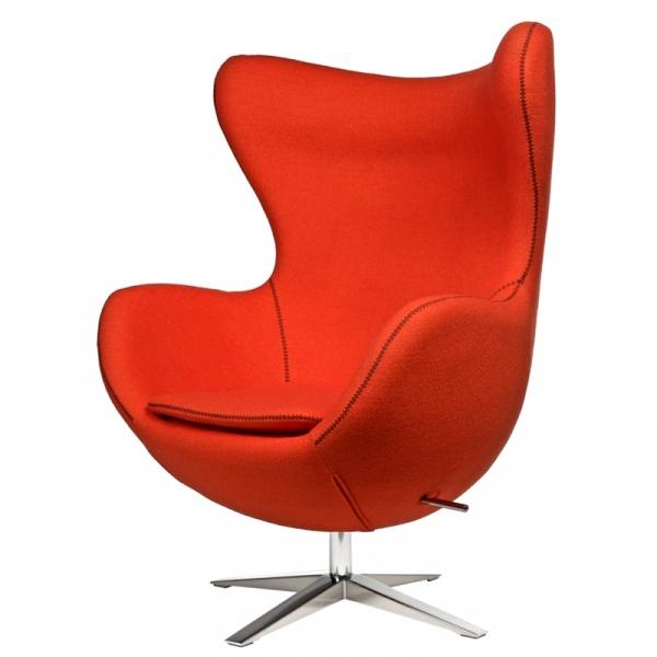 Fotel Jajo D2 z przeszyciem szeroki tkanina pomarańczowa DK-42155