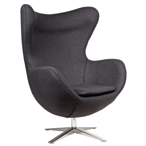 Fotel Jajo D2 z przeszyciem szeroki tkanina szara DK-42147
