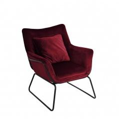 Fotel Kavos : Kolor - bordowy