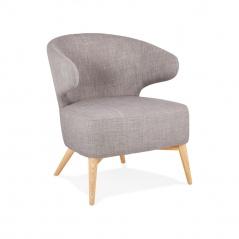 Fotel Kokoon Design Missy szary nogi drewniane