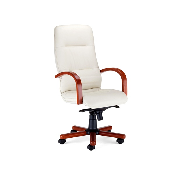 Fotel Linea Extra (multiblock) SD-06 biały/koniak LI-E-1008-M-SD-06