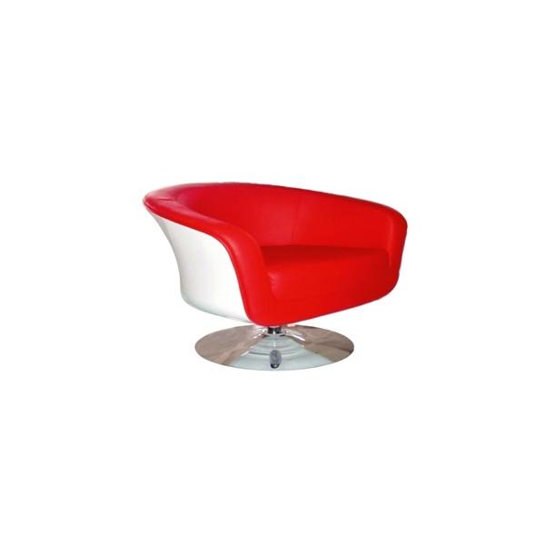 Fotel Magnum K-biały, S- czerwone 5902385700726