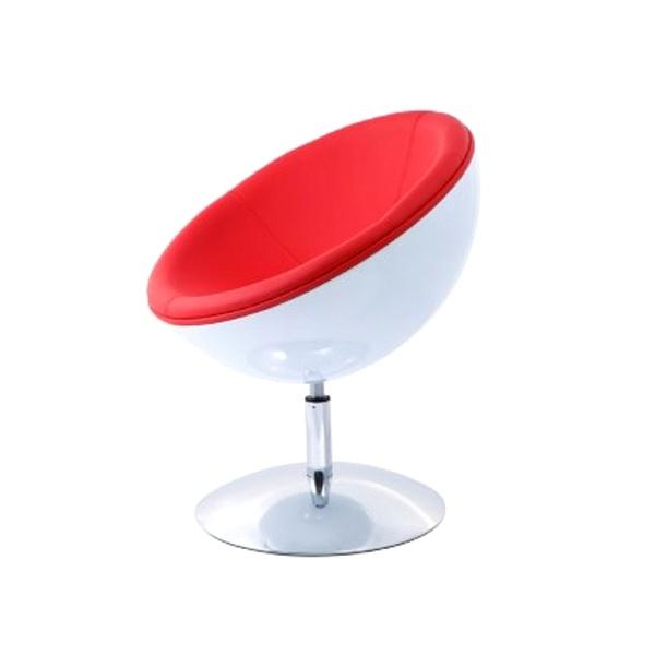 Fotel Mercury K-biały, S-czerwone DK-24430