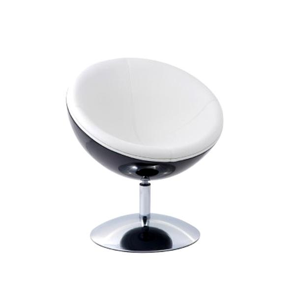 Fotel Mercury K-czarny, S-białe DK-24427