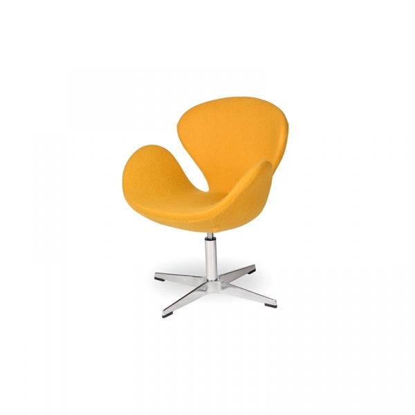Fotel obrotowy King Bath Swan żółty Li-FK-911D.MUSZTARDOWY