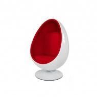 Fotel obrotowy King Home Ovalia biało-czerwony