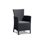 Fotel ogrodowy 62x60x85cm Bazkar IOWA antracyt/szary