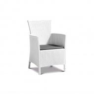 Fotel ogrodowy 62x60x85cm Bazkar IOWA biały/popiel
