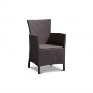Fotel ogrodowy 62x60x85cm Bazkar IOWA brąz/taupe