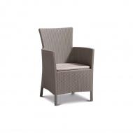 Fotel ogrodowy 62x60x85cm Bazkar IOWA Cappuccino/beż