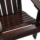 Fotel ogrodowy, drewniany, brązowy