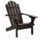 Fotel ogrodowy z podnóżkiem, drewniany, brązowy