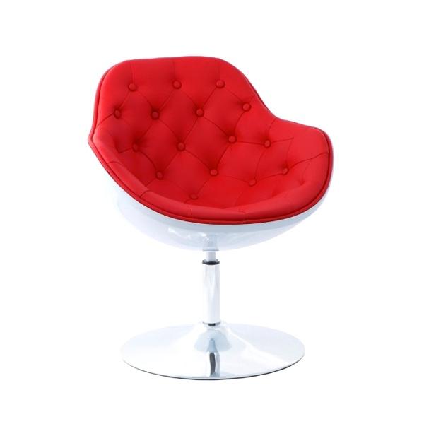 Fotel Pezzo pikowany D2 biało-czerwony 5902385709279