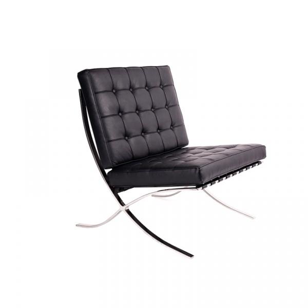 Fotel pikowany King Bath Barcelon czarny AA-ST-03-1