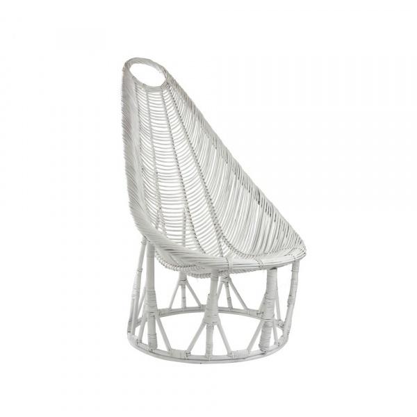 Fotel pleciony Gie El Botanica biały FST0260