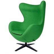 Fotel szeroki Egg King Home 80x110cm zielony-czarna podstawa