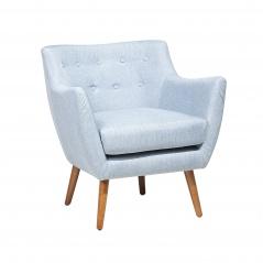 Fotel tapicerowany jasnoniebieski Camille BLmeble