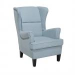 Fotel tapicerowany jasnoniebieski Marzo BLmeble