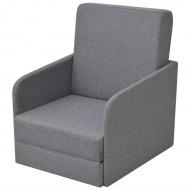 Fotel tapicerowany rozkładany jasny szary