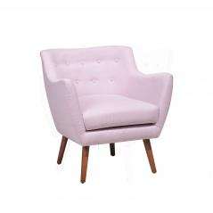Fotel tapicerowany różowy pastelowy Camomilla