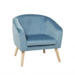 Fotel welwet jasnoniebieski Tormentone BLmeble