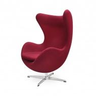 Fotel z wełny kaszmirowej 83x72x107cm King Home EGG bordowy